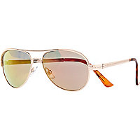 Girls gold aviator sunglasses