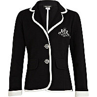 Girls black collegiate blazer