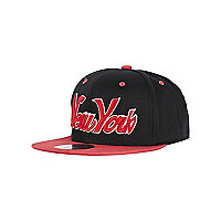 Girls black New York trucker hat