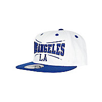 Girls white Los Angeles trucker hat