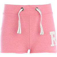 Girls fluro pink R shorts