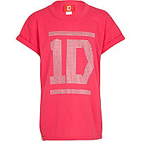 Girls pink One Direction oversized t-shirt