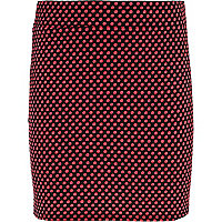 Girls red polka dot tube skirt