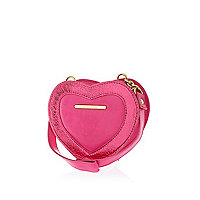 Girls pink heart shaped bag