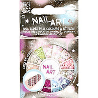 Girls nail art sequin kit