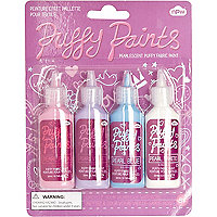 Girls 4 pack puffy paints