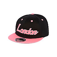 Girls pink fluro London trucker hat