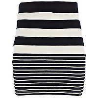 Girls black stripe tube skirt