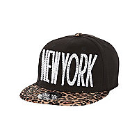 Girls black diamante New York trucker hat