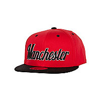 Girls red Manchester trucker hat