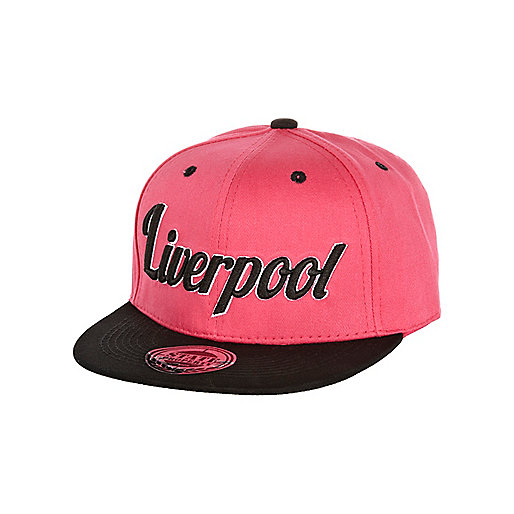Girls pink Liverpool trucker hat