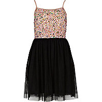 Girls pink sequin ballerina dress