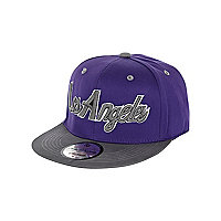 Girls purple Los Angeles trucker hat