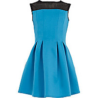Girls aqua scuba sleeveless dress