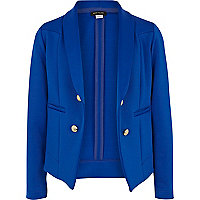 Girls blue scuba tux blazer