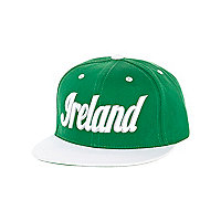 Girls green Ireland trucker hat