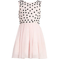 Girls pink star bodice dress