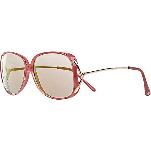 Girls pink oversized sunglasses