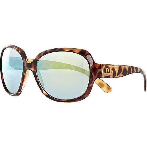 Girls brown tortoise shell sunglasses