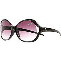Girls black heatseal studded sunglasses