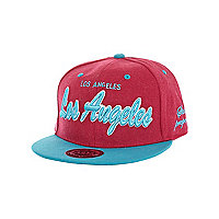 Girls pink Los Angeles trucker hat