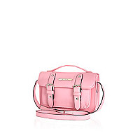 Girls light pink satchel