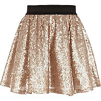 Girls gold sequin tutu skirt