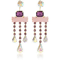 Girls purple statement earrings