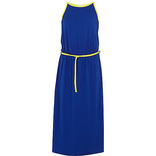 Girls blue maxi dress
