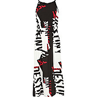 Girls black destiny print maxi dress