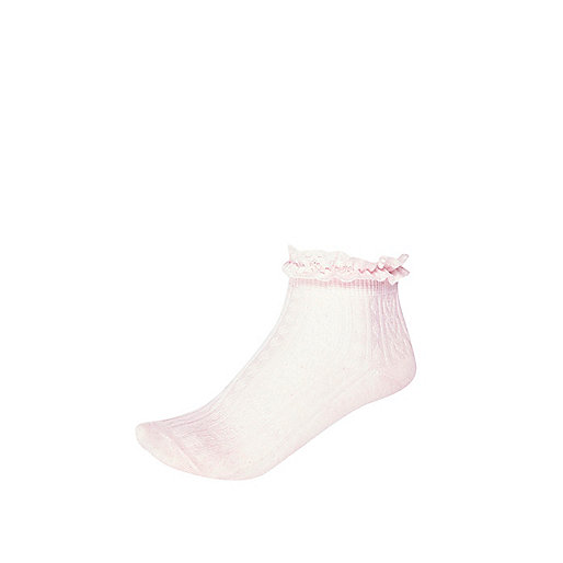 Girls pink frilly socks
