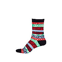 Girls blue ho ho ho socks