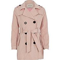 Girls pink trench coat