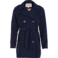 Girls blue trench coat