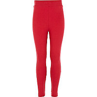 Girls red leggings
