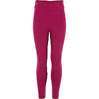 Girls dark pink leggings