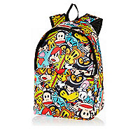 Girls red Paul Frank character print rucksack