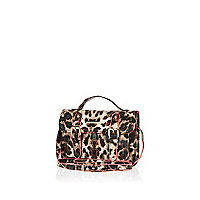 Girls leopard print satchel