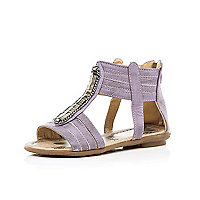 Girls lilac chain sandals