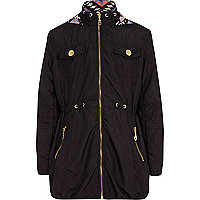 Girls navy nylon parka