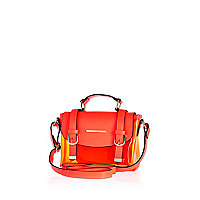 Girls orange transparent satchel