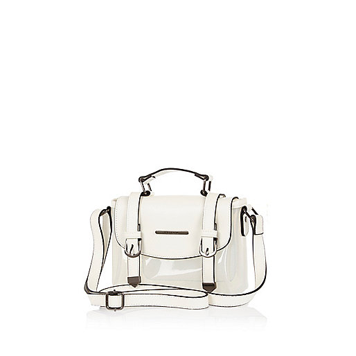 Girls white transparent satchel