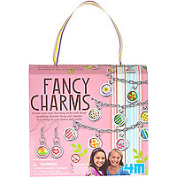 Girls pink fancy charms kit