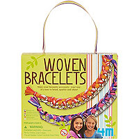 Girls green make your own woven bracelets kit