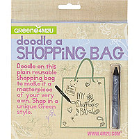 Girls cream doodle shopping bag