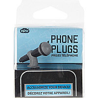Kids black microphone phone plug