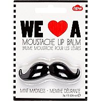 Girls white moustache lip balm