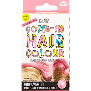 Girls pink comb in temporary hair colour
