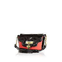 Girls black and red cross body bag