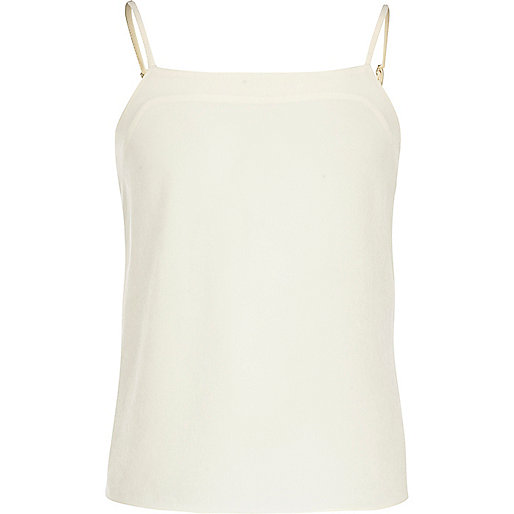 Girls cream strappy cami vest